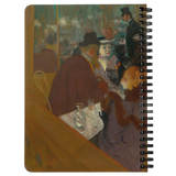At the Moulin Rouge by Toulouse-Lautrec - Spiralbound Notebook