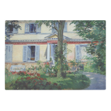 House in Rueil by Manet - Glass Cutting Board