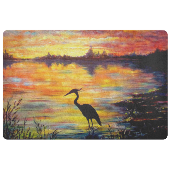 Heron Sunset by Tocher - Doormat
