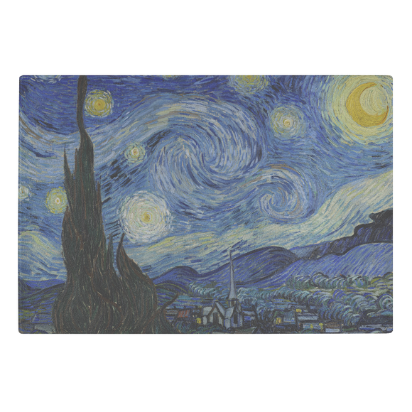 Starry Night by van Gogh - Glass Cutting Board