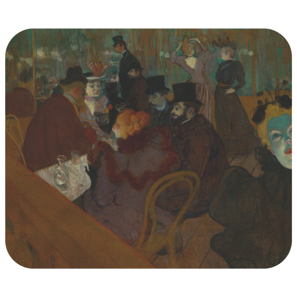 At the Moulin Rouge by Toulouse-Lautrec - Mousepad