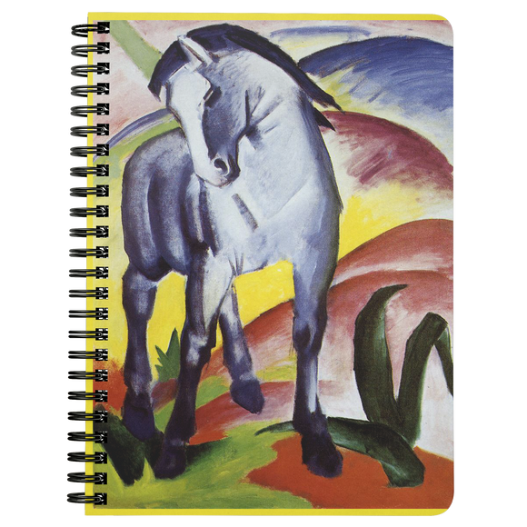 Blue Horse I & II by Marc - Spiralbound Notebook