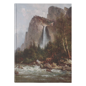 View of Yosemite Valley by Hill - Hardcover Journal