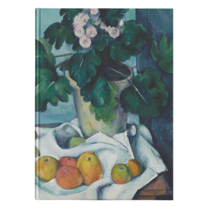 Still Life with Apples and a Pot of Primroses by Cezanne - Hardcover Journal