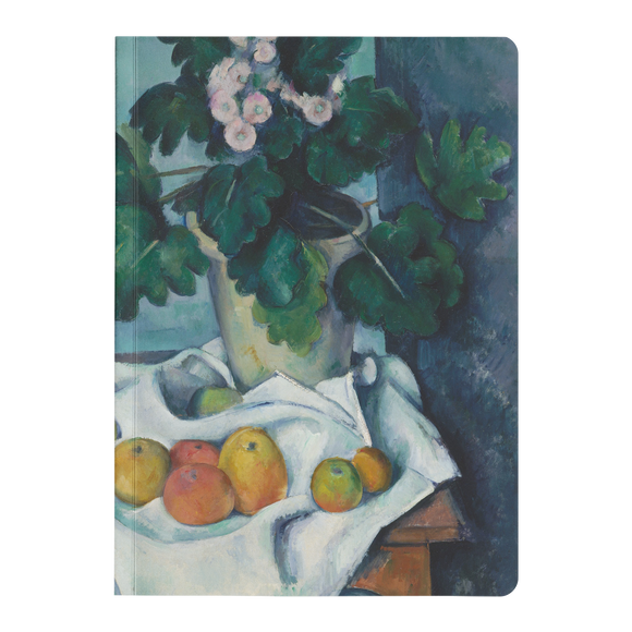 Still Life with Apples and a Pot of Primroses by Cezanne - Paperback Journal