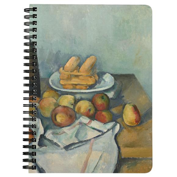 The Basket of Apples by Cezanne - Spiralbound Notebook