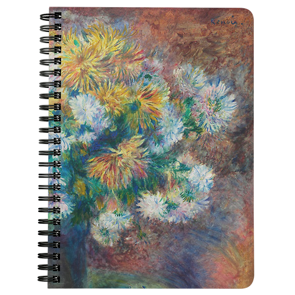Chrysanthemums by Renoir - Spiralbound Notebook