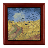 Wheatfield with Crows by van Gogh - Jewelry Box