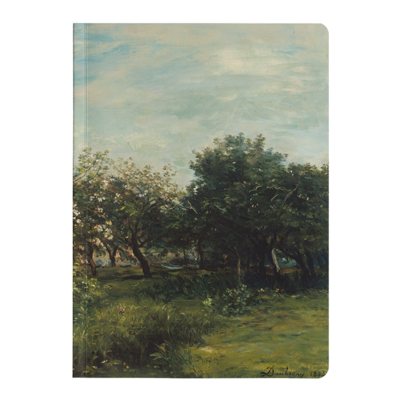 Apple Blossoms by Daubigny - Paperback Journal