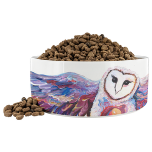 Owl Spirit by Tocher - Dog Bowl