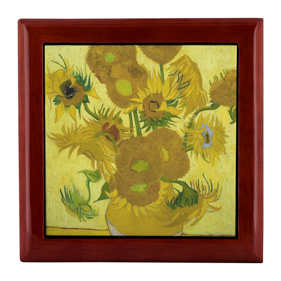 Sunflowers by van Gogh - Jewelry Box
