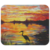 Heron Sunset by Tocher - Mousepad