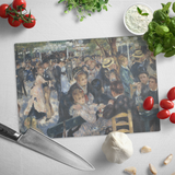 Dance at le moulin de la Galette by Renoir - Glass Cutting Board