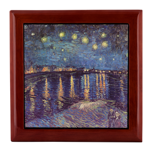 Starry Night over the Rhone by van Gogh - Jewelry Box