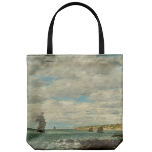 Coast of Brittany by Boudin - Cloth Tote Bag