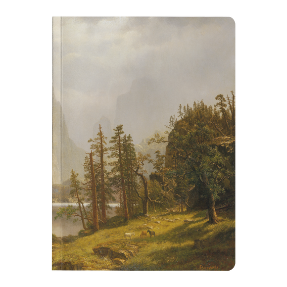 Merced River, Yosemite Valley by Bierstadt - Paperback Journals