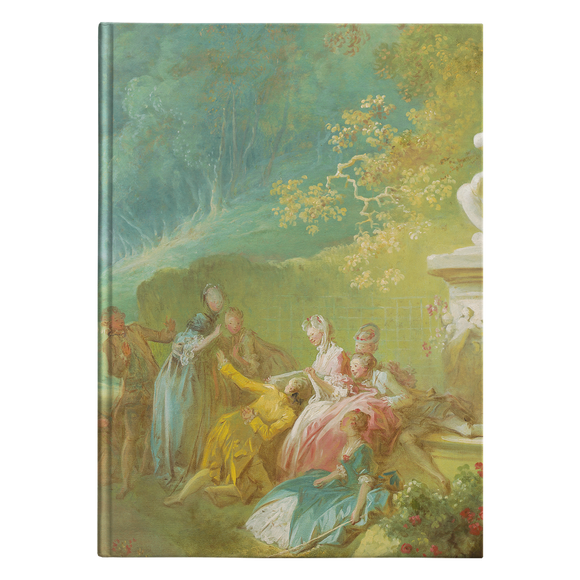 A Game of Hot Cockles by Fragonard - Hardcover Journal