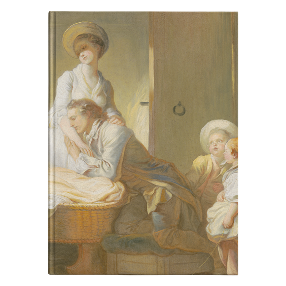 The Visit to the Nursery by Fragonard - Hardcover Journal