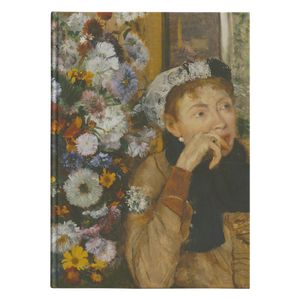 A Woman Seated Beside a Bouquet of Flowers by Degas - Hardcover Journal