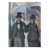 Paris Street, Rainy Day by Caillebotte - Hardcover Journal