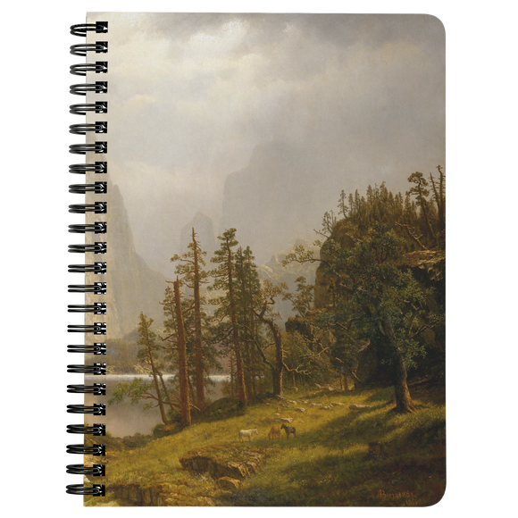 Merced River, Yosemite Valley by Bierstadt - Spiralbound Notebook