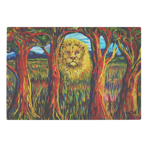 Soul Lion by Tocher - Glass Cutting Board