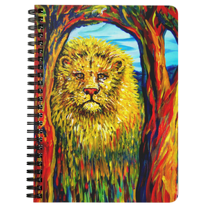 Soul Lion by Tocher - Spiralbound Notebook