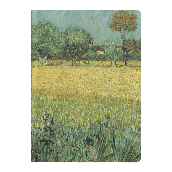 View of Arles with Irises by van Gogh - Paperback Journal