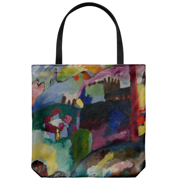 Landscape with Factory Chimney by Kandinsky - Cloth Tote Bag