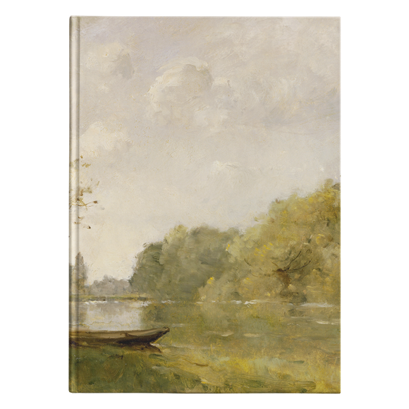 A Pond Near Nangis by Trouillebert - Hardcover Journal