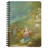 A Game of Hot Cockles by Fragonard - Spiralbound Notebook