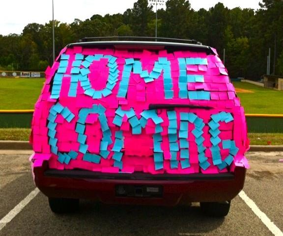Homecoming proposal using post it notes