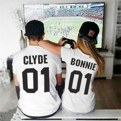 bonnie and clyde t-shirts white