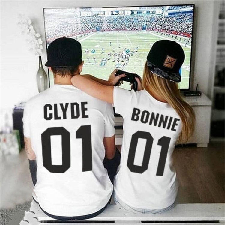 bonnie and clyde t-shirts black