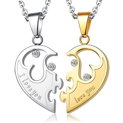 Cool Couple Necklaces - Gold and Silver