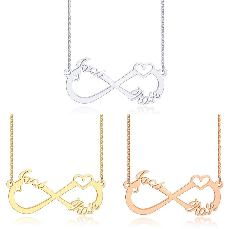 Couple Infinity Necklace