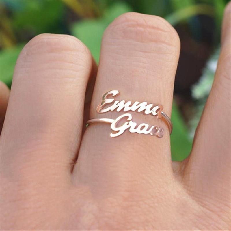 Couple Name Ring