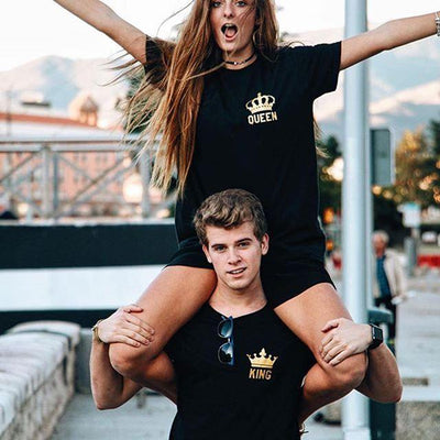 "Couple T-shirts ""King and Queen"""