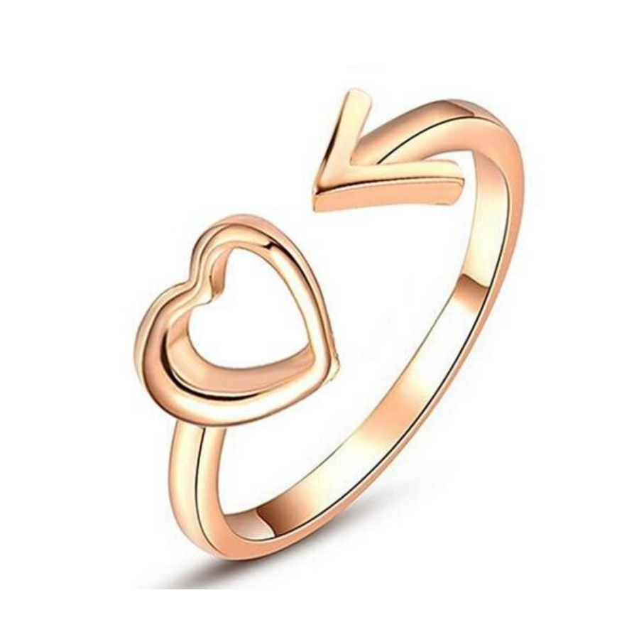 Heart and Arrow Ring