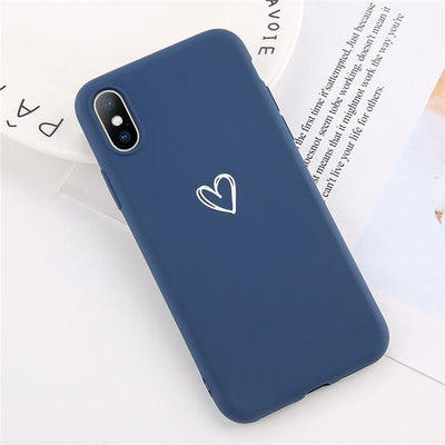 Heart Phone Cases - Blue