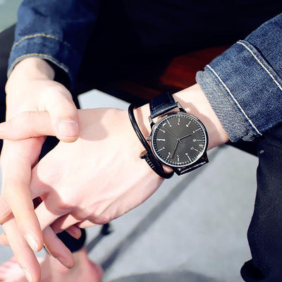 His and Hers Watches - black