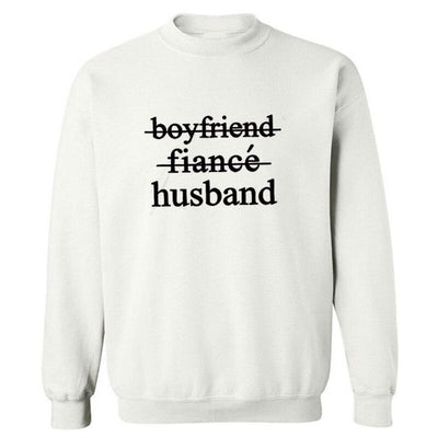 Husband Sweatshirt - white