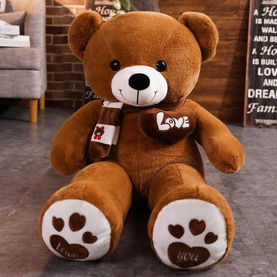 Love Teddy Bear - Dark Brown