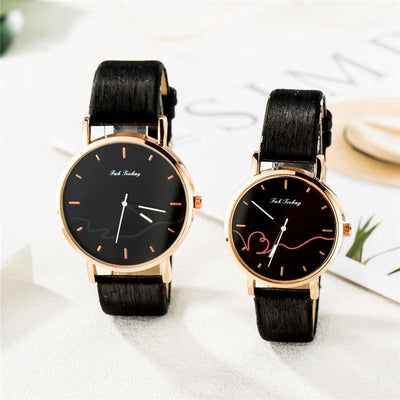 Matching Couple Watches - Black and Gold