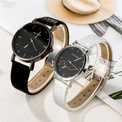 Matching Couple Watches - Black and Silver