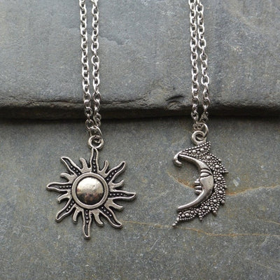 Sun and Moon Matching Necklaces
