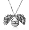 sunflower necklace silver