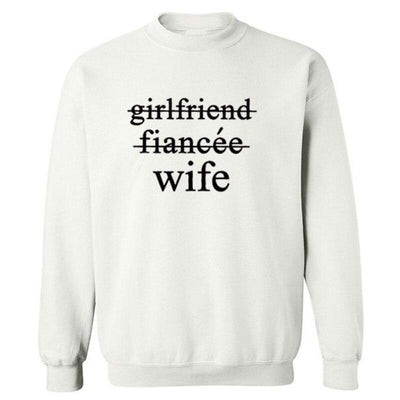 Wife Sweatshirt - white