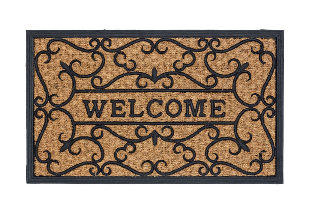 Kokosmatte Coco Deluxe Light 545 Relief Welcome 45 x 75 cm