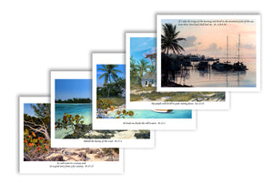 Note cards:  Tropical Scenes with Scripture - Shipping is FREE!